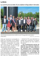 ARTICLE INAUGURATION LA MOTTE