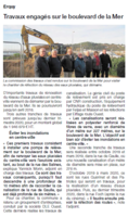 OUEST FRANCE 12/17- ERQUY TRAVAUX ENGAGES