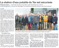 OUEST FRANCE 10/17 SYNDICAT DE LA BAIE SECURISATION STATION DU YAR