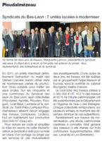 OUEST FRANCE 03/17 SYNDICAT DES EAUX DU BAS LEON TRAVAUX FINIS